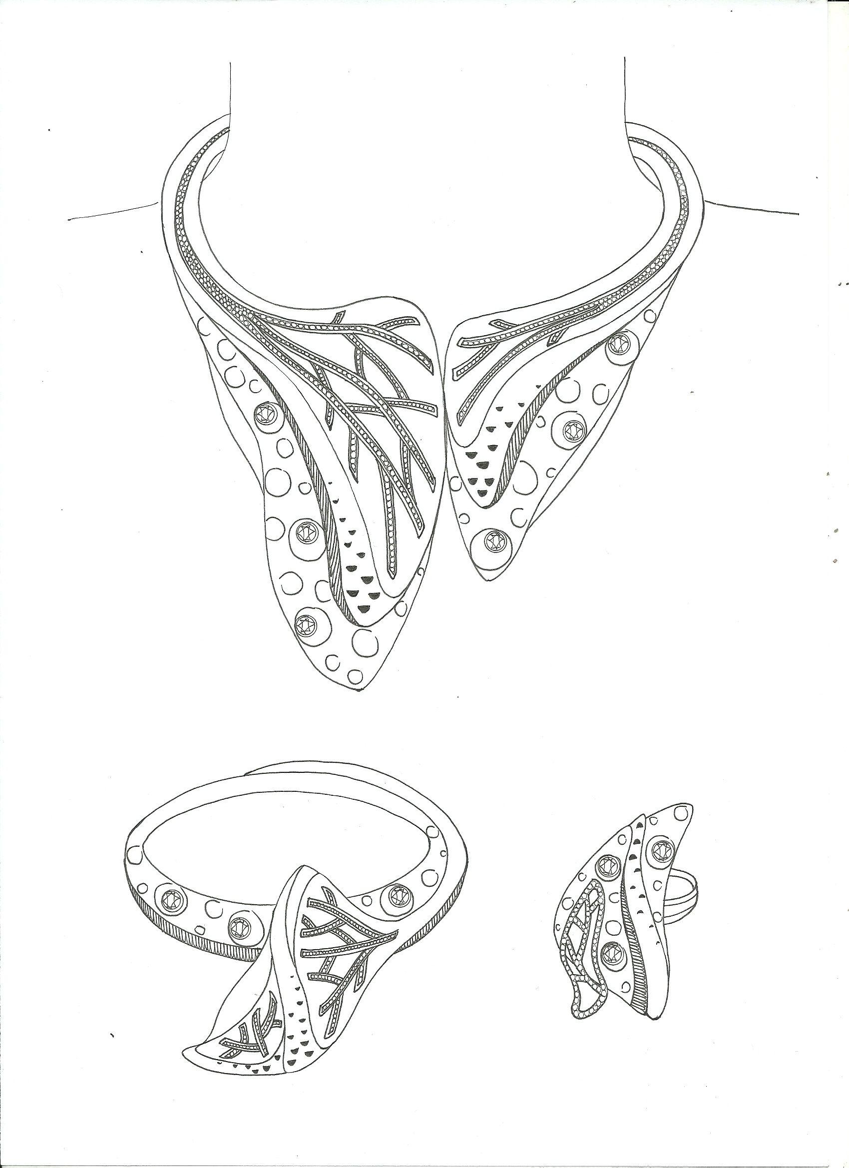 Diamond Necklace Designs sakech   Jewelry Sketch   ♤ jewelary skech ...