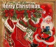 Santa Decorating Merry Christmas Gif