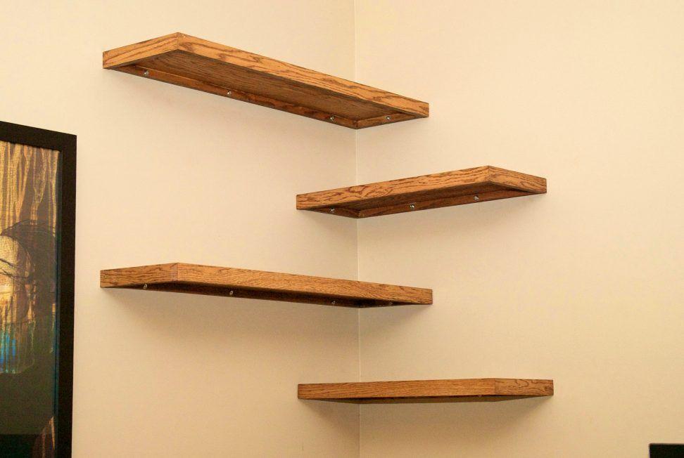 Wooden Wall Shelves Corner