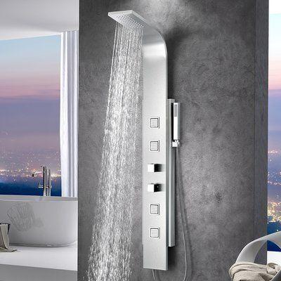 ANZZI Visor Series Fixed Shower Head Shower Panel System | Shower ...