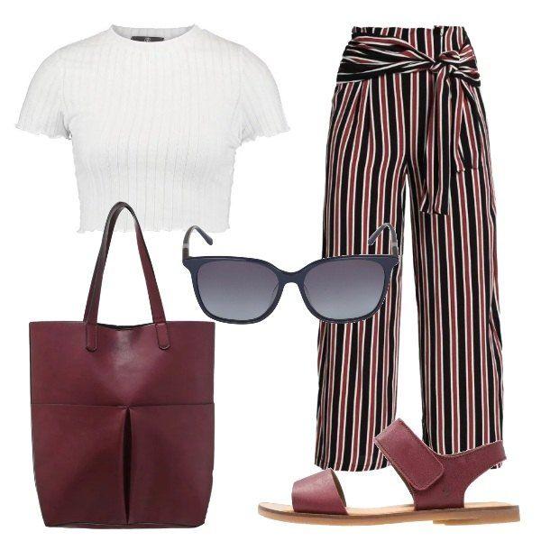 f7ac3250eb Il pantalone a righe: outfit donna Everyday per tutti i giorni ...