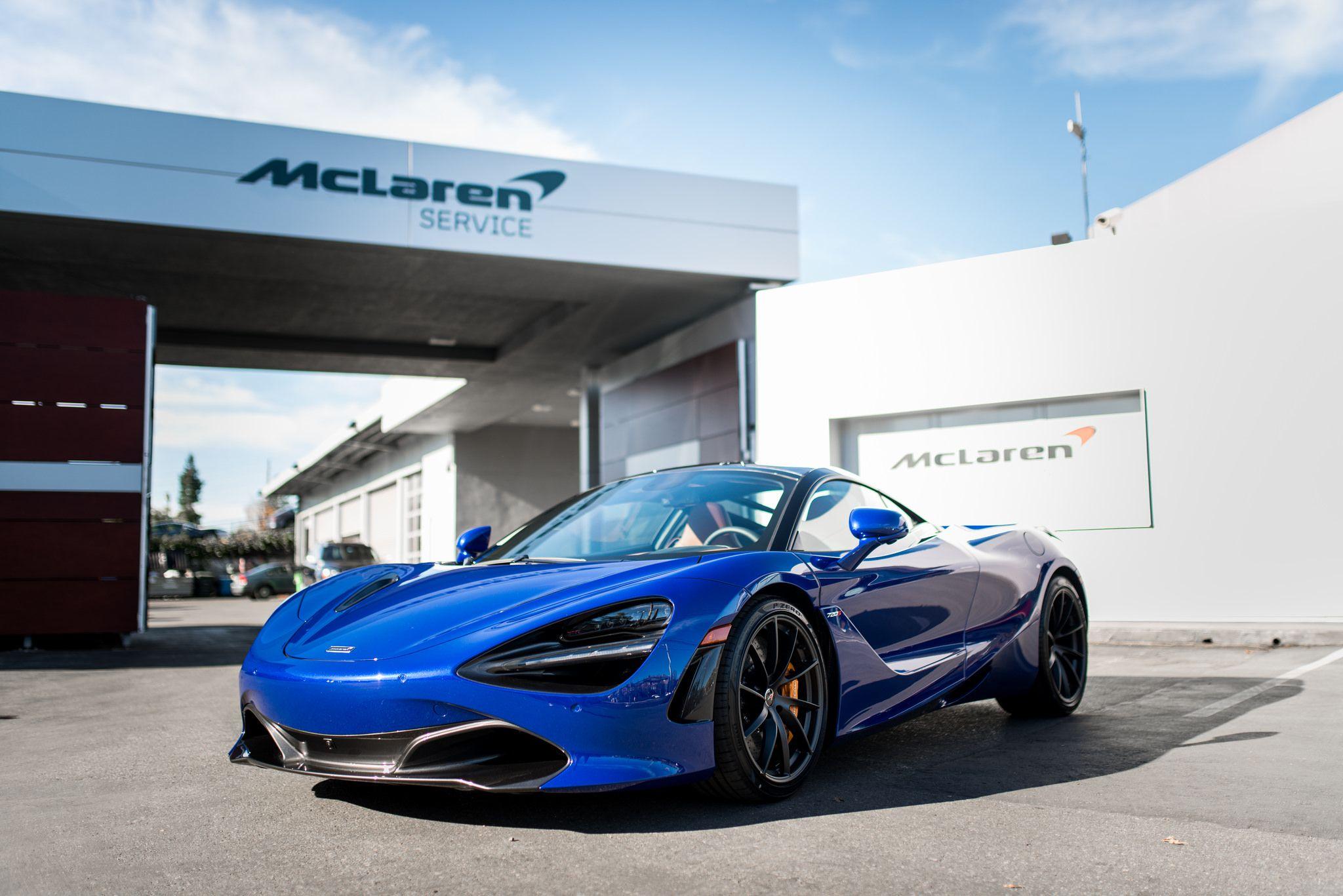 Mclaren 720s In Beautiful Aurora Blue Under Sun From Mclaren San Fracisco Mclaren Mclaren 720s Best Luxury Cars