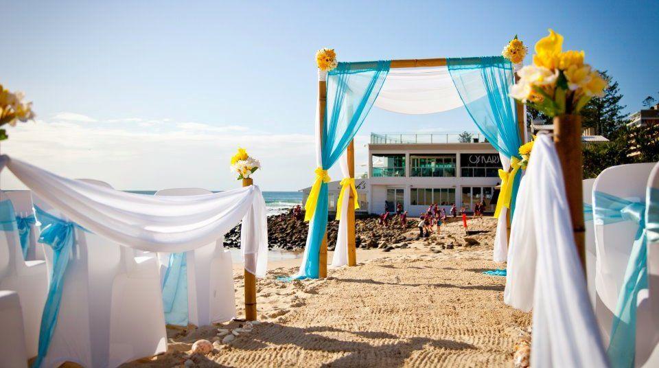 Turquoise And Yellow Wedding Ideas: Turquoise And Yellow Beach Wedding