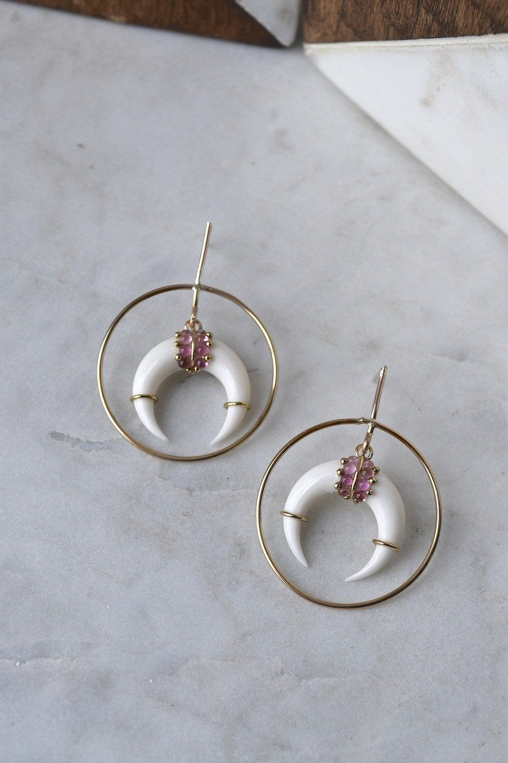 STYLE | Hoop earring with postFINISH | 14kt gold filled