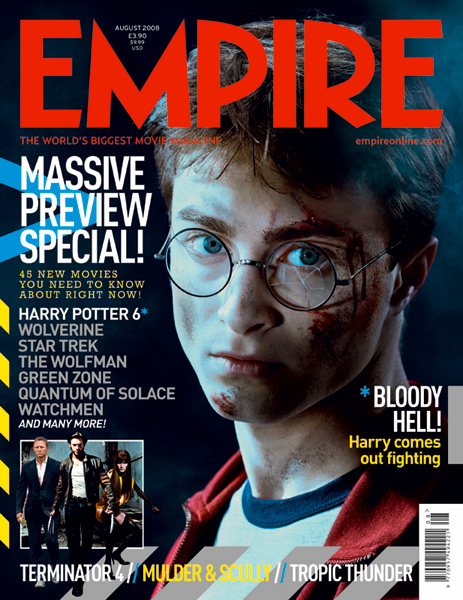 Empire Front Page Png 463 600 Movie Magazine Magazine Cover Harry Potter