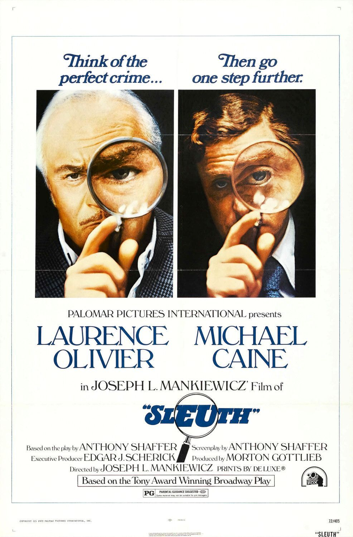 Sleuth 1972 Movie Posters Good Movies Original Movie Posters