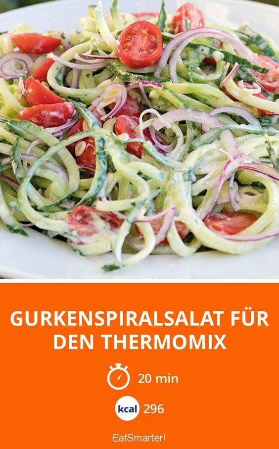 Gurkenspiralsalat für den Thermomix