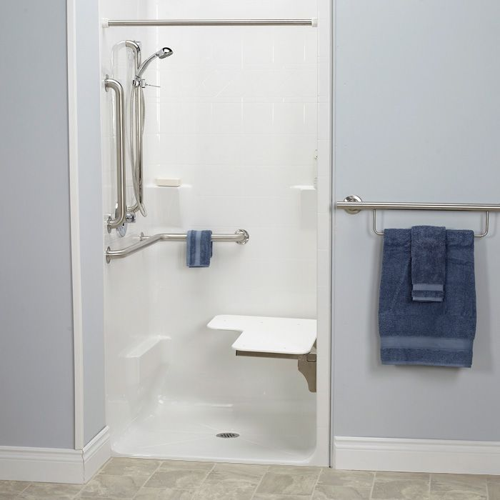 A Freedom transfer shower is ADA compliant. Order this shower for ...