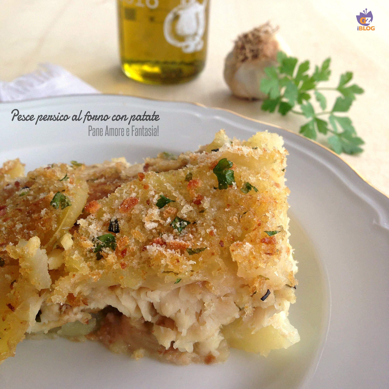 Filetto di pesce persico al forno con patate - ricetta