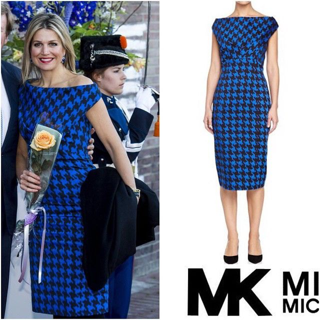 : @michaelkors #queenmaxima #queen #netherlands #dutch #fashion #beautyqueen #styleicon #dress #michaelkors