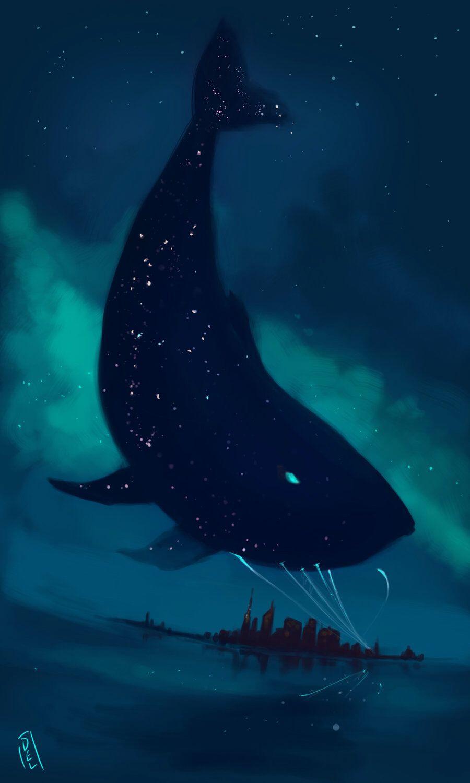 Star Whales Anyone Cabin 3 Art Illustration Illustration Art