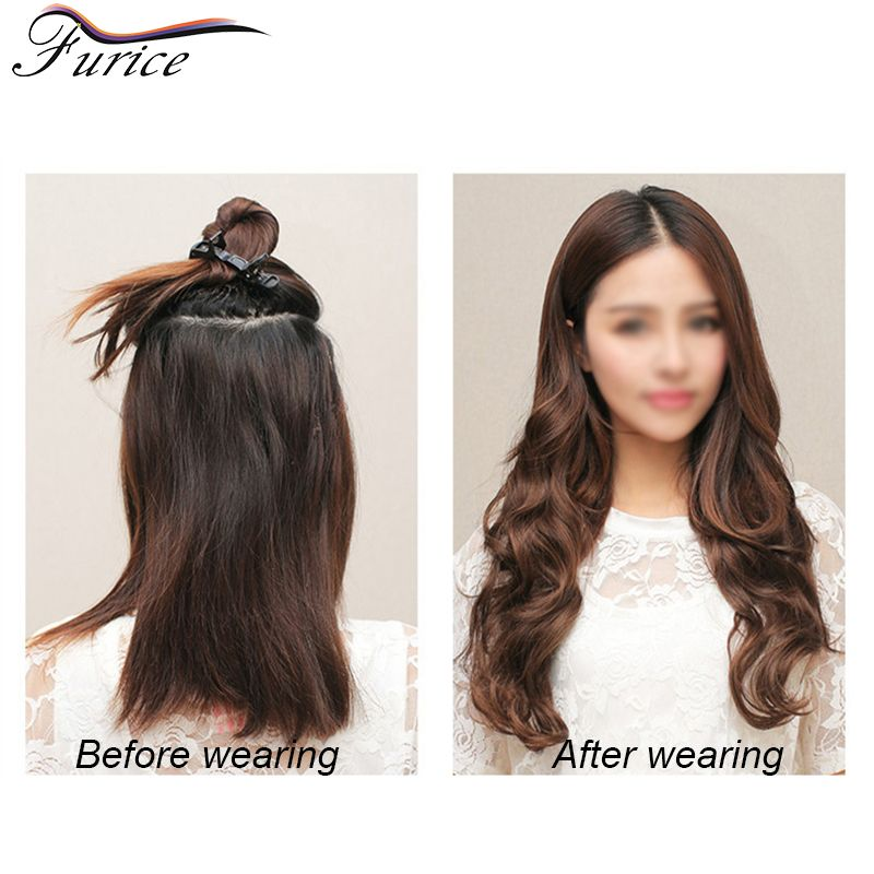 Aliexpress buy 25in65cm 120g one pack long body wavy hair one pack long body wavy hair extension women sexy blonde brown synthetic hair clip in hair extensions hairpiece pmusecretfo Choice Image