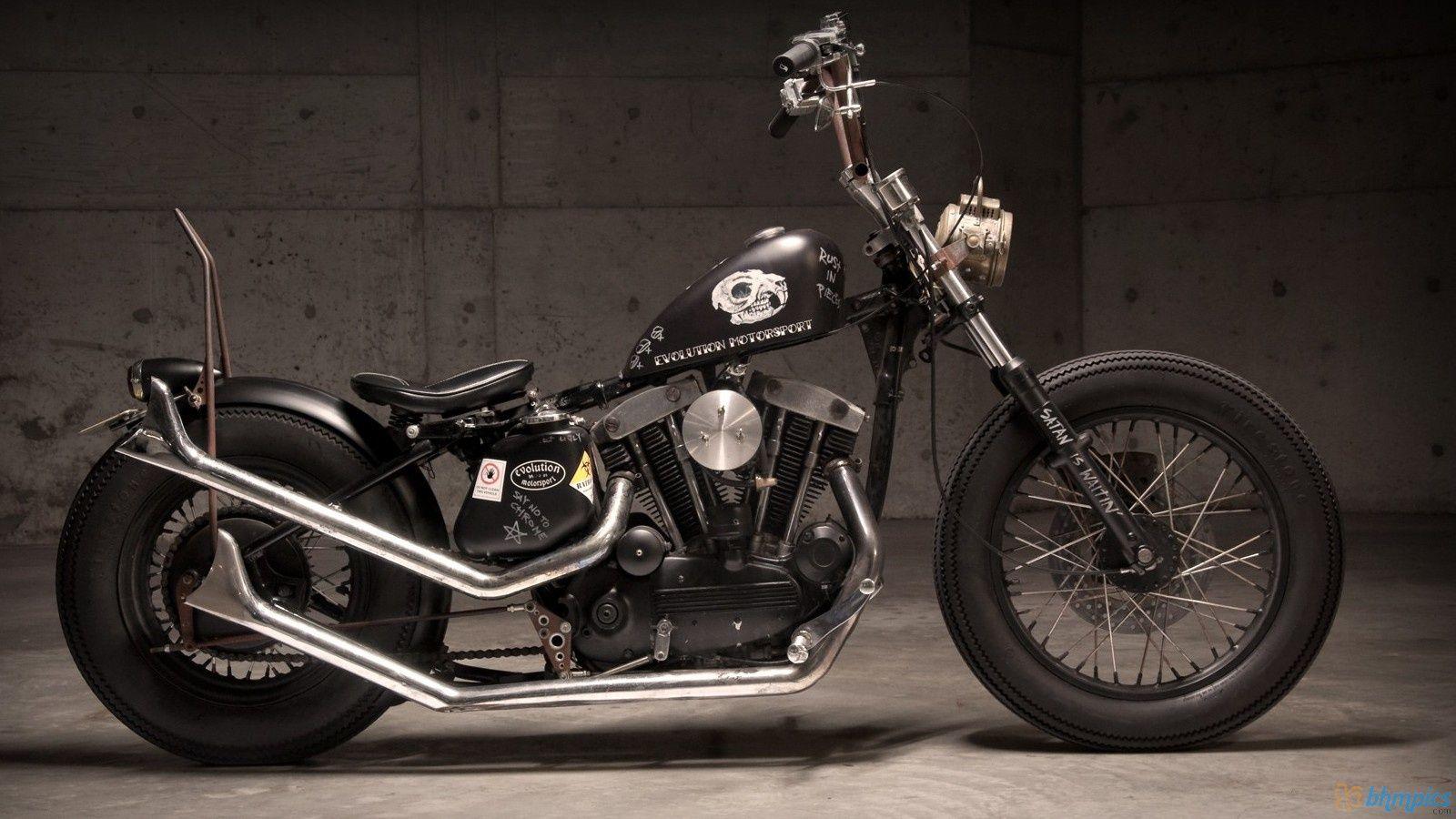 Bobber Cafe Racer Harley Davidson Hd Wallpaper 1080p: 1969_harley_rat_bobber-1600x900.jpg (1600×900)