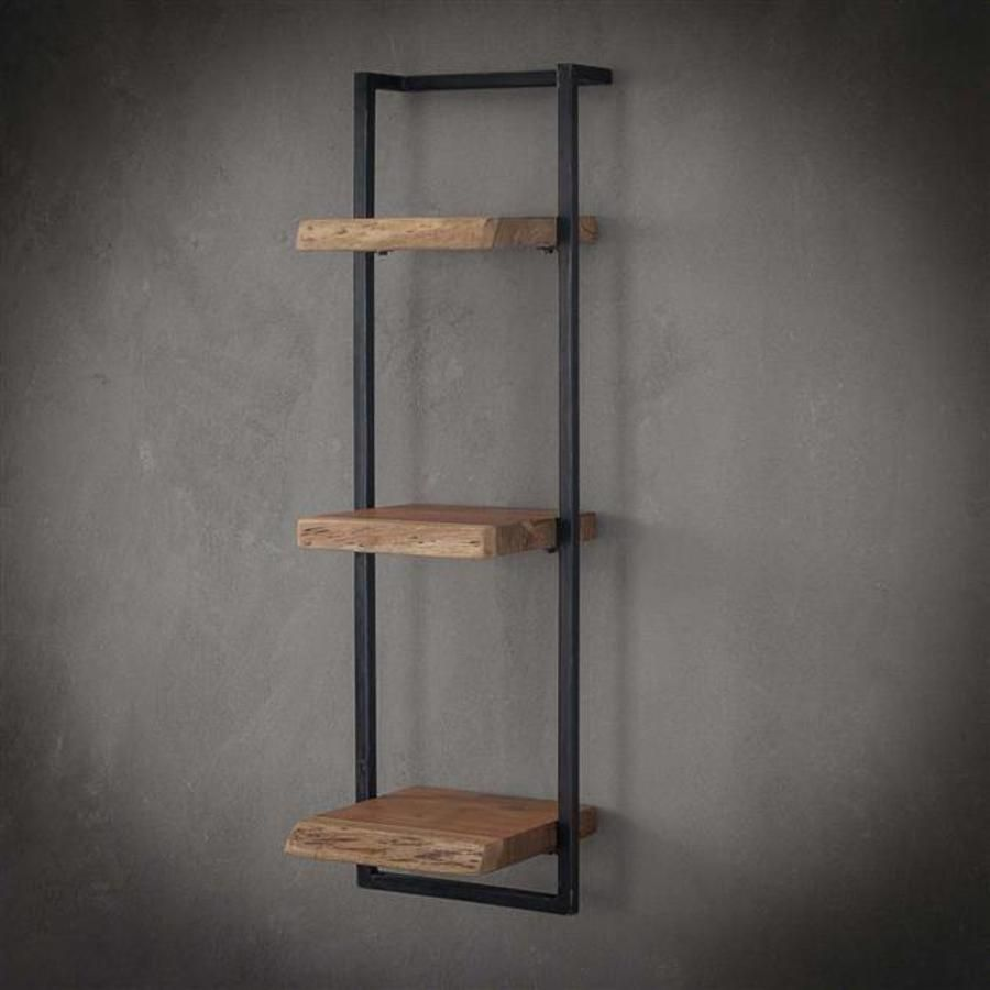 Wall Shelf Jax 30 Cm 100 Cm Height Solid Wood Wall Shelves Metal Wall Shelves Metal Shelves