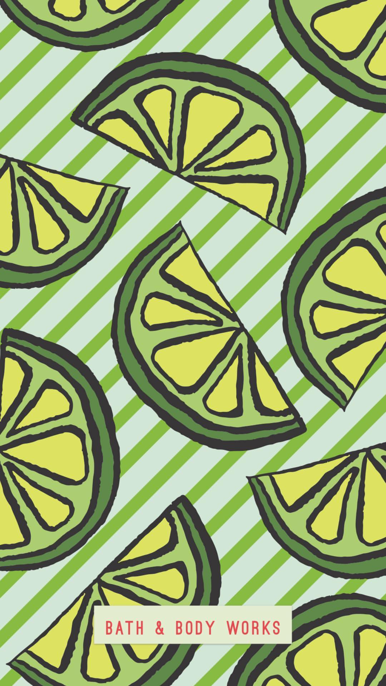 summer lime wedges lock screen wallpaper background for cellphone
