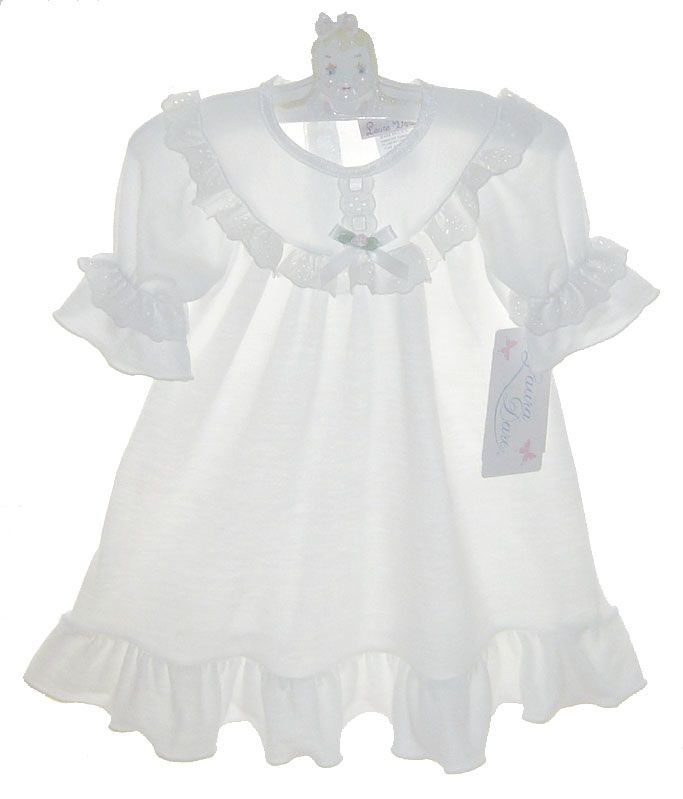 NEW White Gown with Eyelet Trim $45.00 | Kiddos: Nighties ...