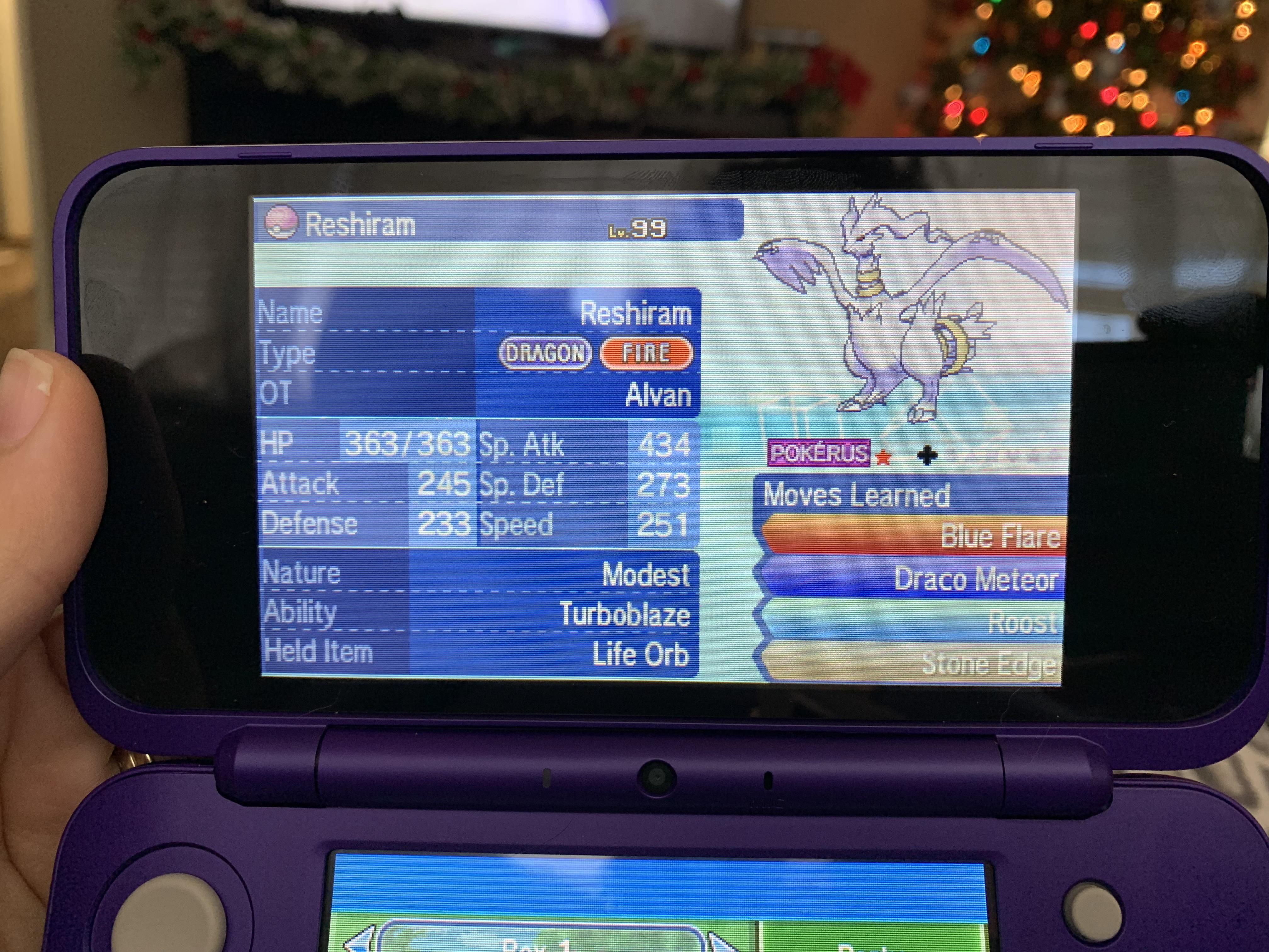 I got a shiny Reshiram infected with pokerus in wonder trade