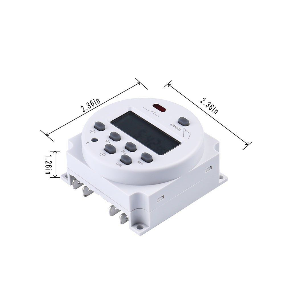 12v Timer Switch For Solar Lights Chicken Coop Door Battery Powered Programmable Daily Weekly With Keys Lock Function Dc Ac 1 Solar Lights Diy Kitchen Key Lock