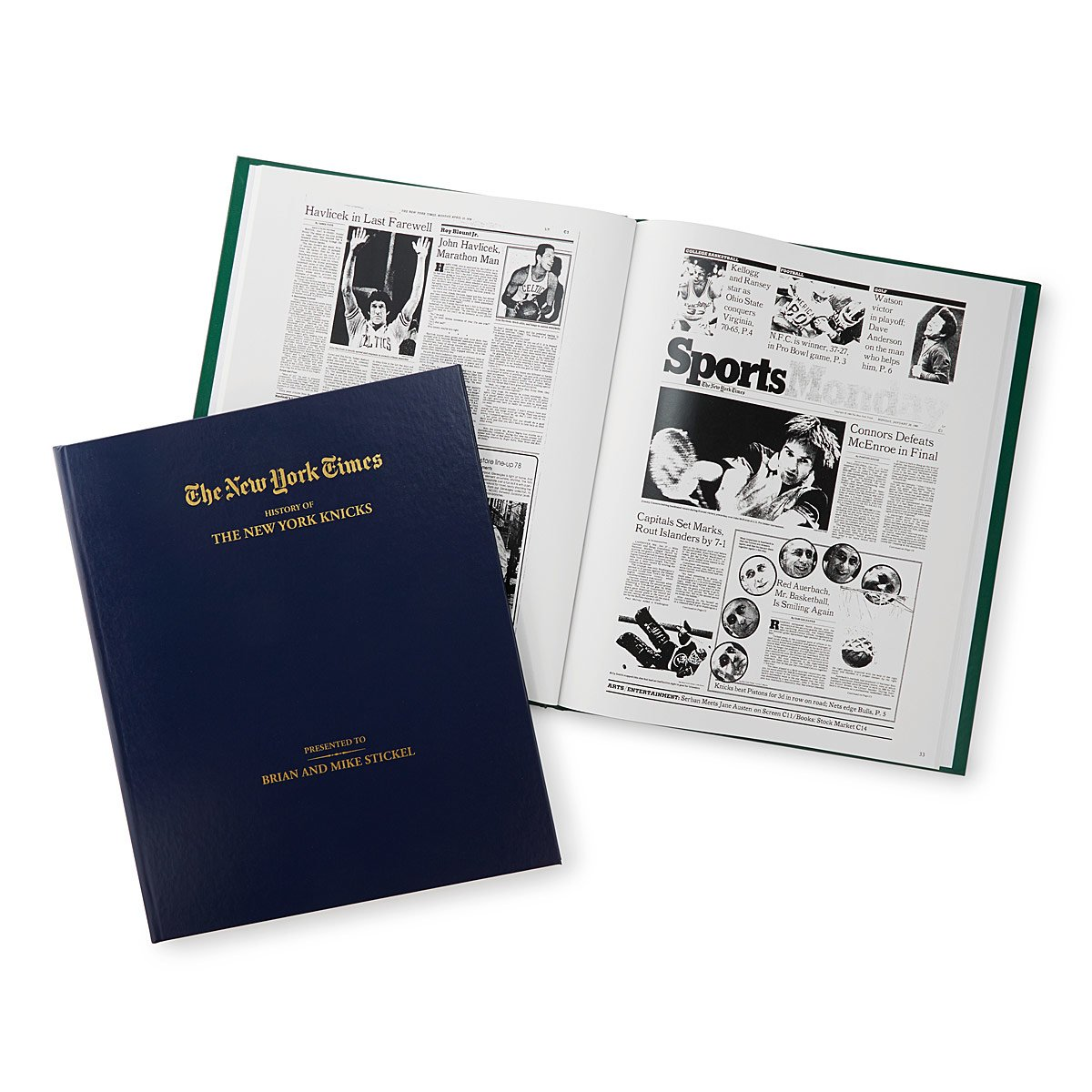 New York Times Custom Basketball Book new york times