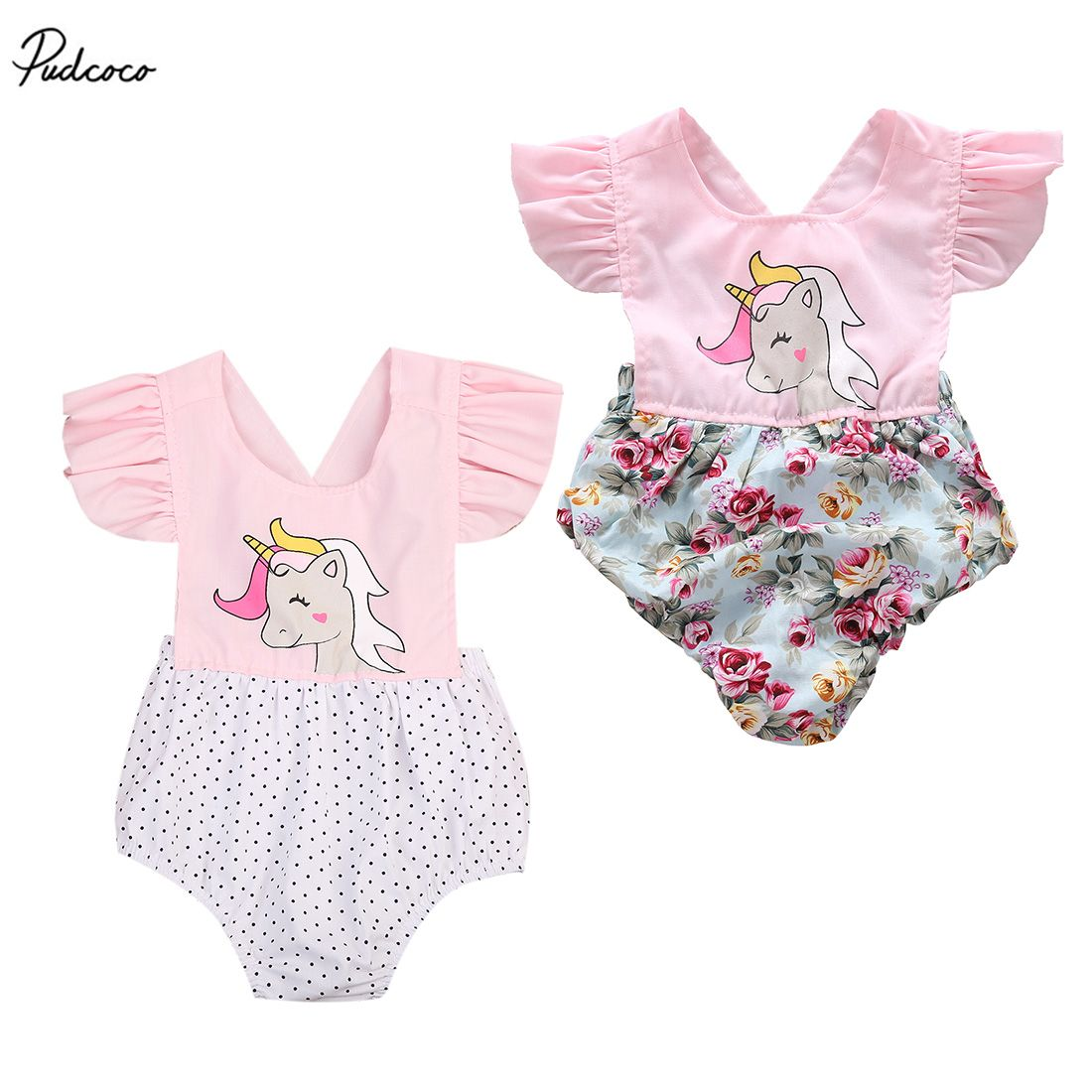 bd83268b4 Click to Buy    Cute Newborn Baby Girls 2017 New Summer Floral ...