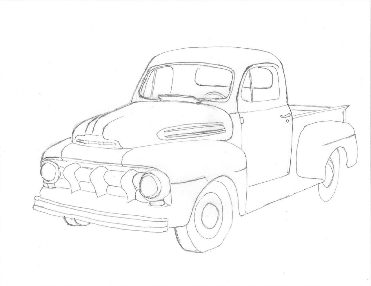 a drawing of a 49 f1 ford truck enthusiasts forums creative Brown Chevy Truck a drawing of a 49 f1 ford truck enthusiasts forums