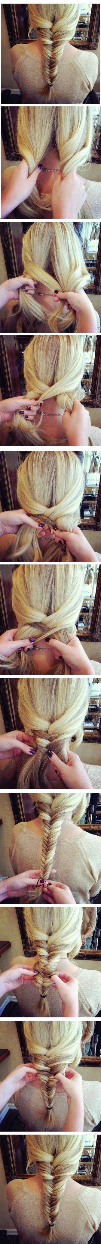 Fishtail braid tutorial cute hairstyles for girls loose fishtail