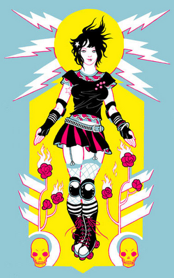 Charm City Roller Girls bout poster by Nolen Strals