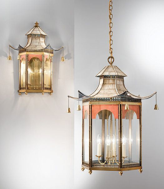 Paa Chinoiserie Lanterns Table Lamps Traditional