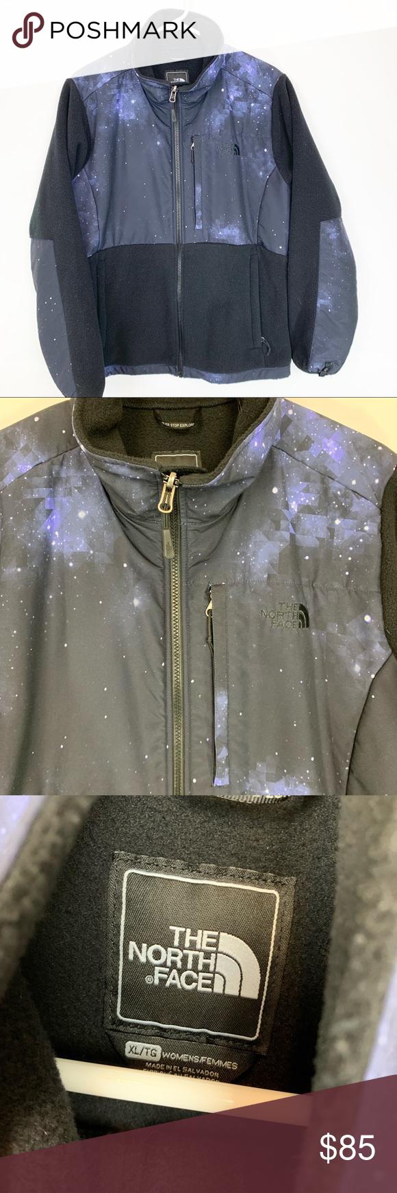 The North Face Denali Women S Xl Galactic Jacket The North Face Women Black North Face [ 1740 x 580 Pixel ]