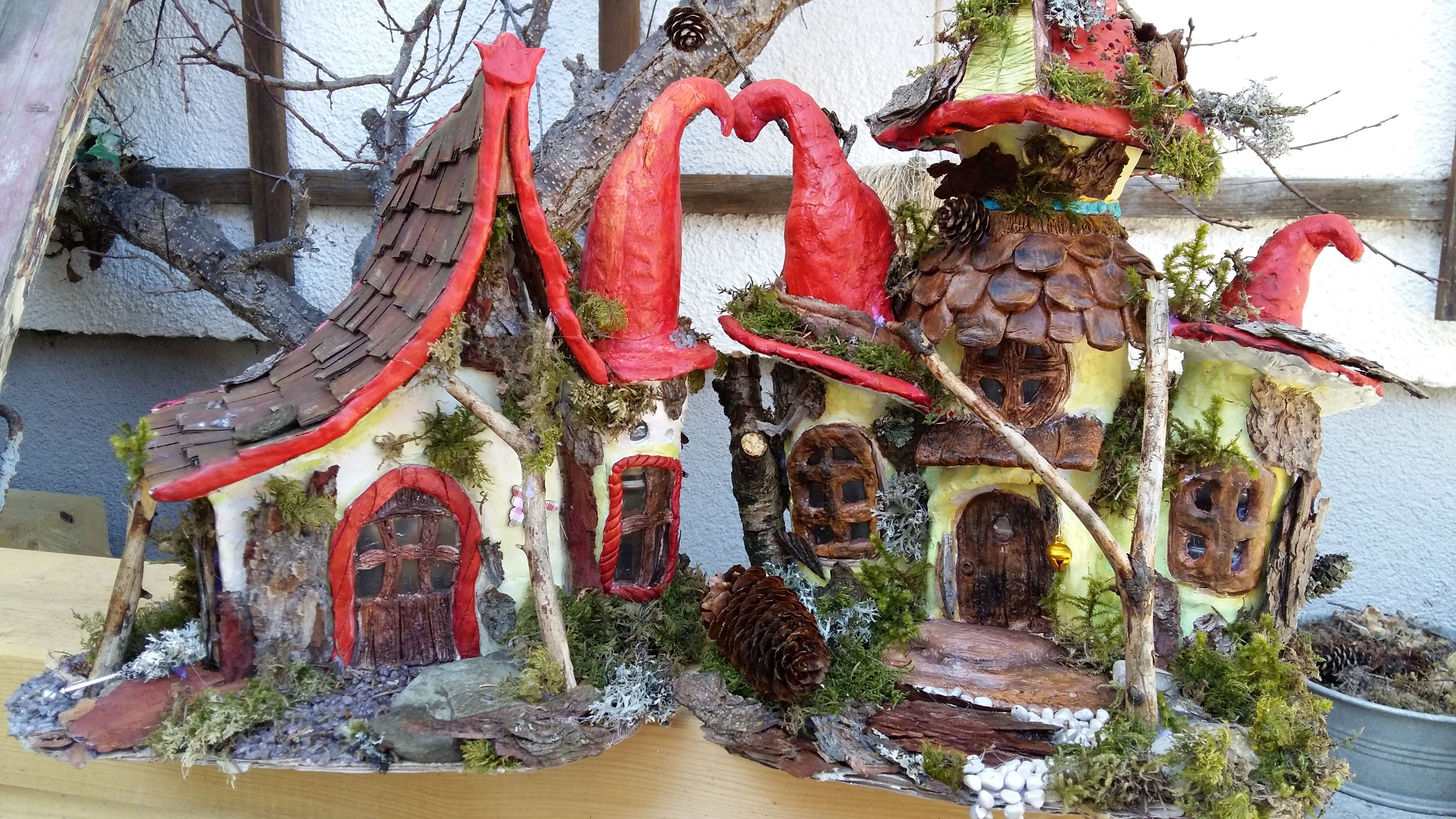 FELIS ART Kreativwerkstatt in Tirol Zwei Feenhäuser aus alten ...