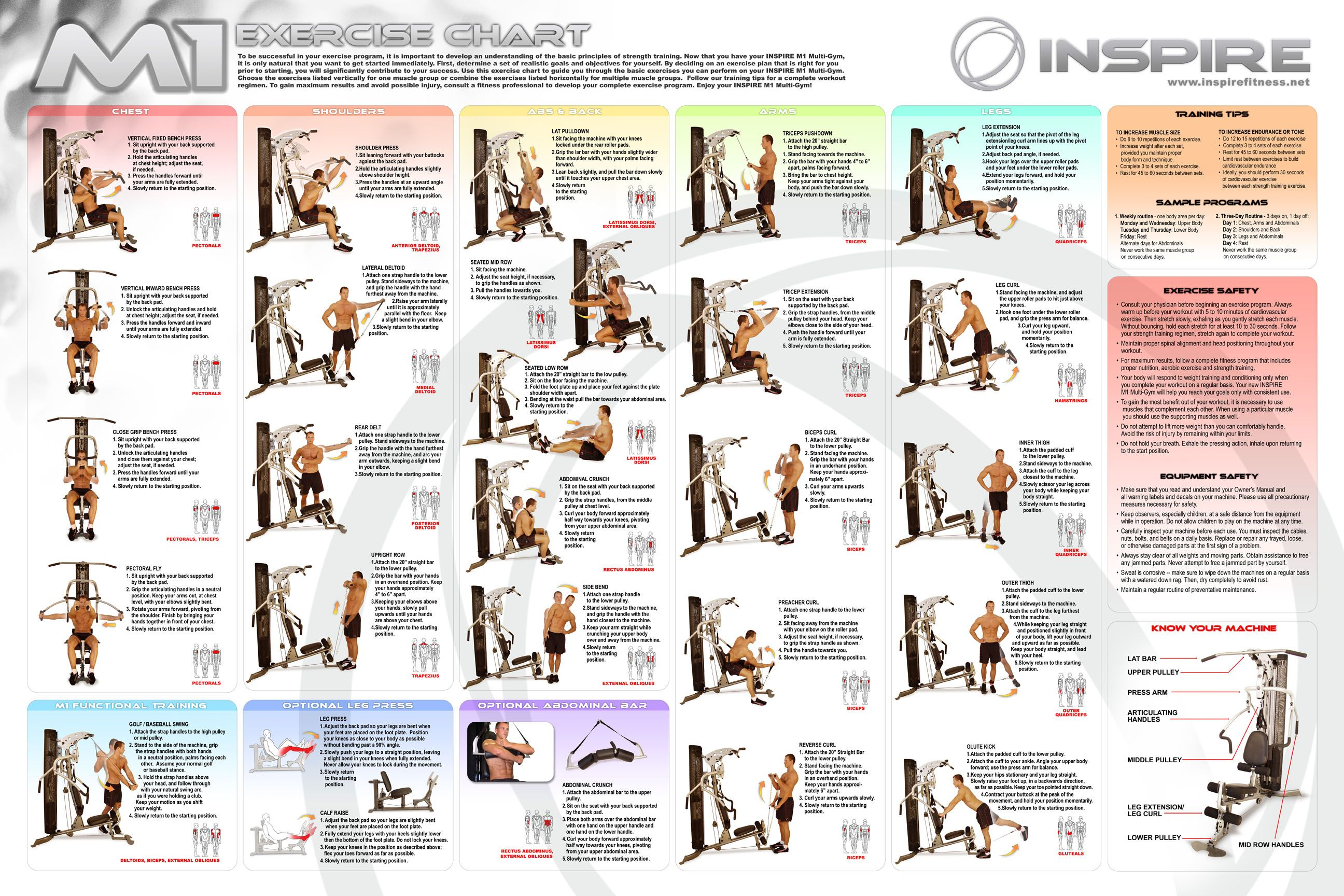 Marcy Home Gym Exercise Chart Pdf