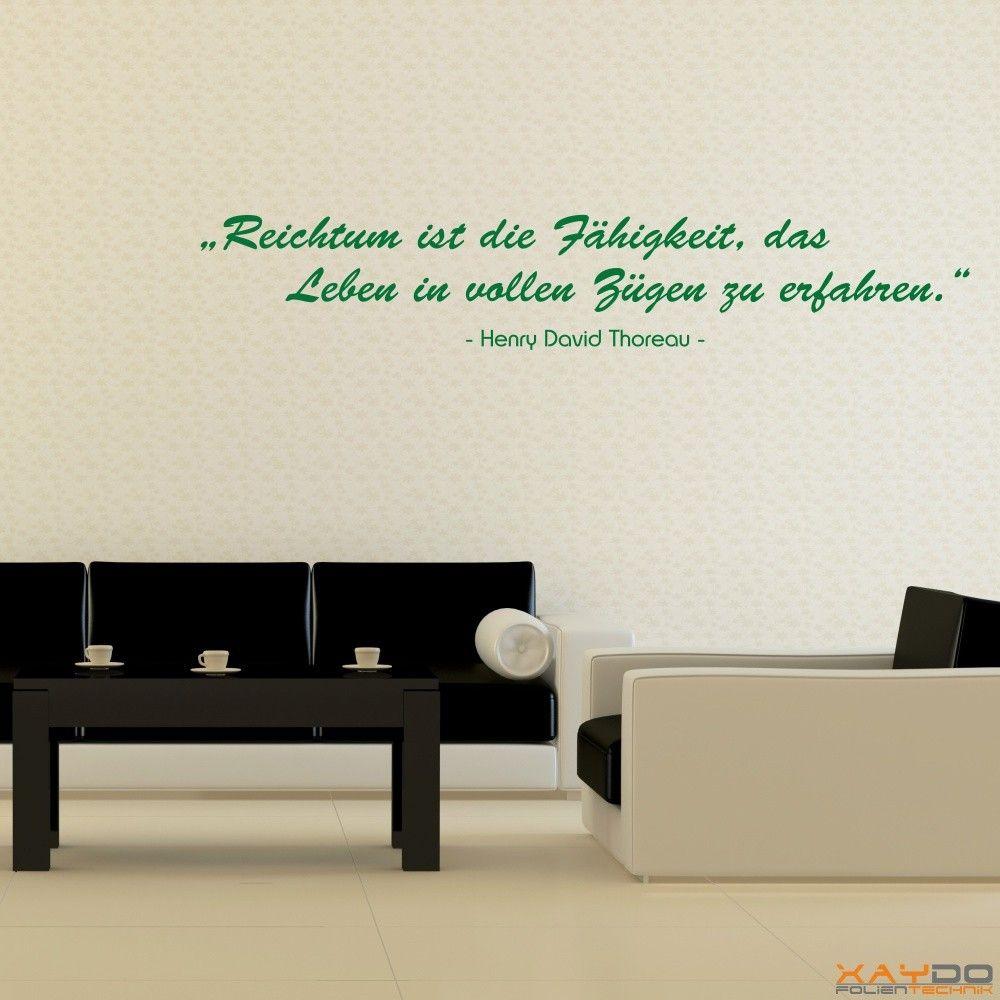Außergewöhnlich Wandtattoo Zitate Dekoration Von Ab 16,95 € | Xaydo Folientechnik |