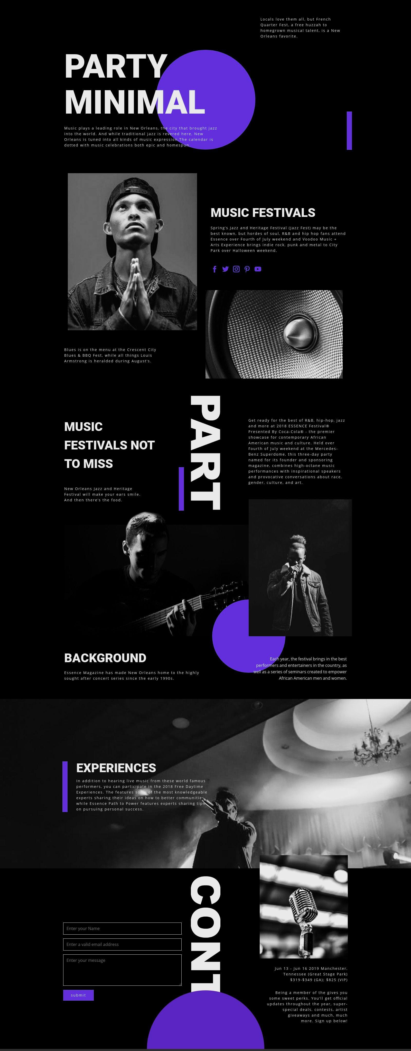 Music Festival HTML Template