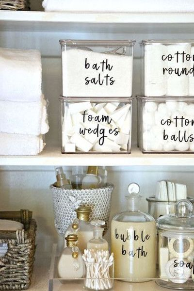 label everything diy home decor pinterest bathroom home and bathroom organization. Black Bedroom Furniture Sets. Home Design Ideas