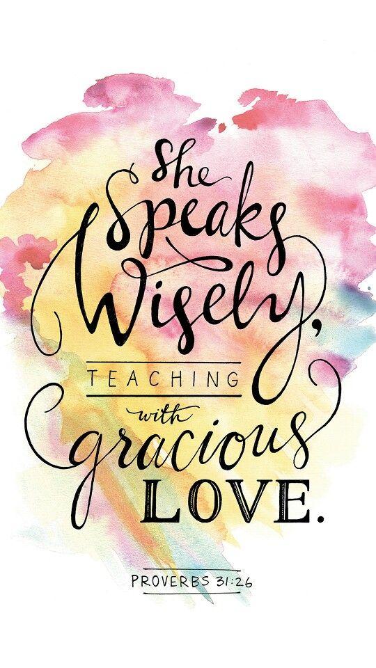 Fellowship Monrova | Women Are Wise | Proverbs 31:26 ...