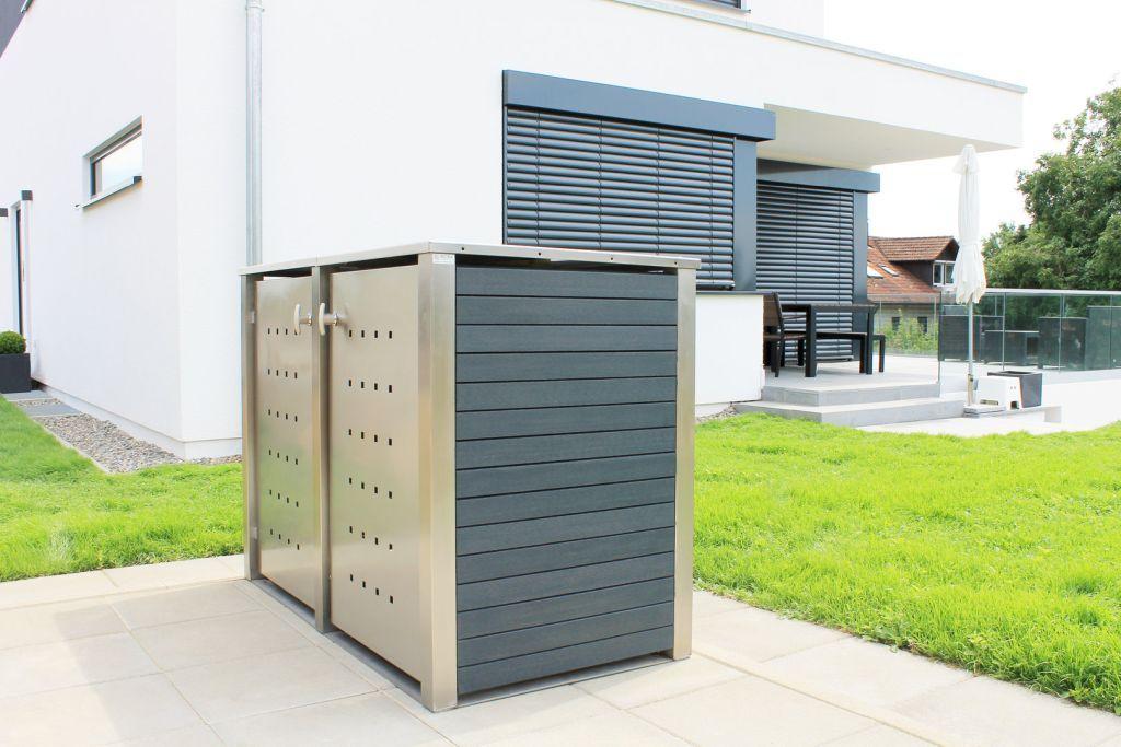 m lltonnenbox kunststoff ordentliches haus saubere einfahrt zu einem sch nen haus geh rt auch