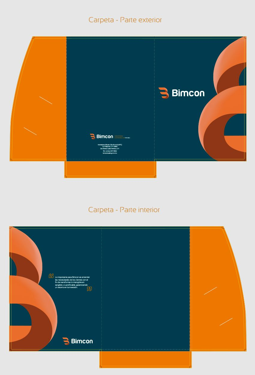 Dise o de carpeta corporativa bimcon como parte del for Diseno imagen corporativa