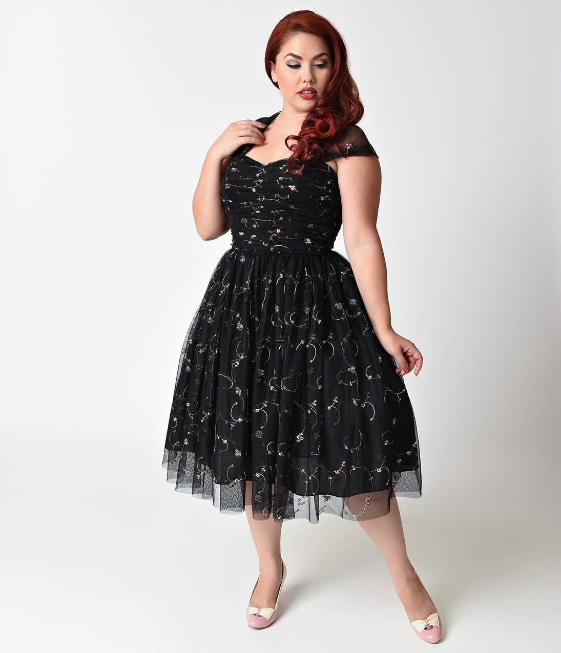 1950s Prom Dresses Formal Dresses Evening Gowns Mesh Cocktail Dress Plus Size Vintage Clothing Plus Size Dresses [ 1275 x 1095 Pixel ]