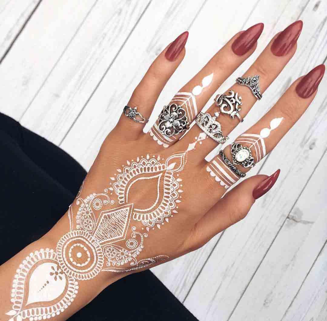white henna | Mehndi / Henna | Pinterest