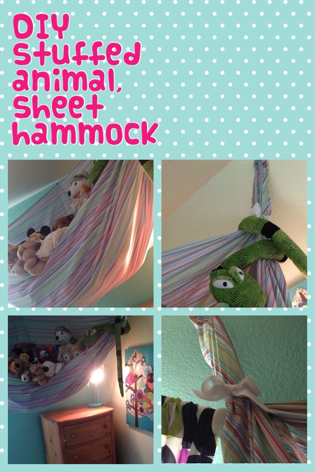 Diy Stuffed Animal Sheet Hammock It S Super Easy And