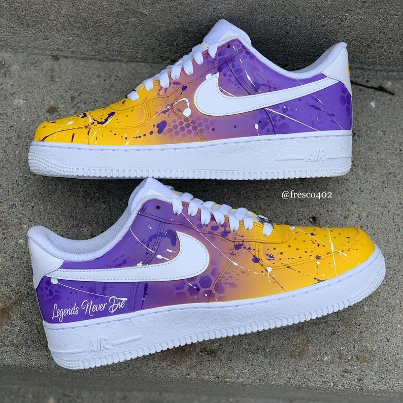 Kobe Bryant laker custom shoes   Etsy