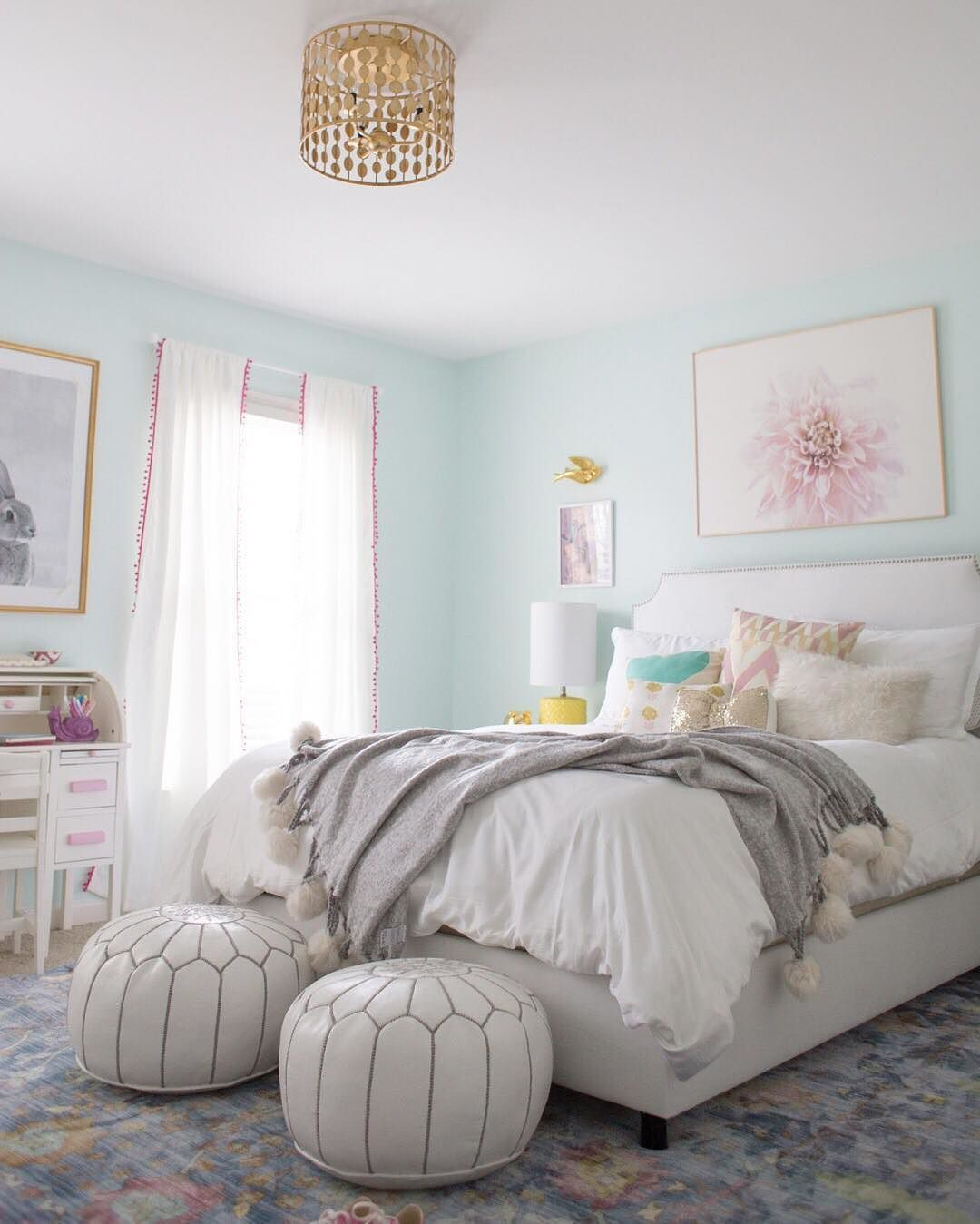 """""""Lily really wanted mint blue walls, so we custom mixed"""