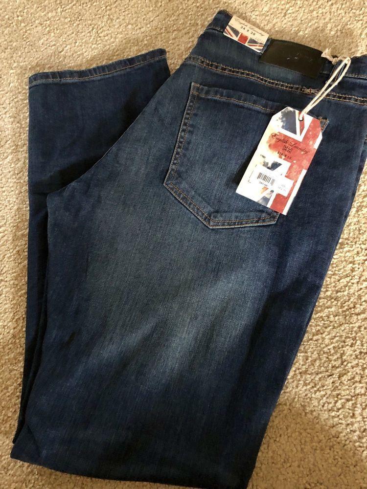 Nwt Mens English Laundry Hackney Slim 34x30 Jeans Paley Retails