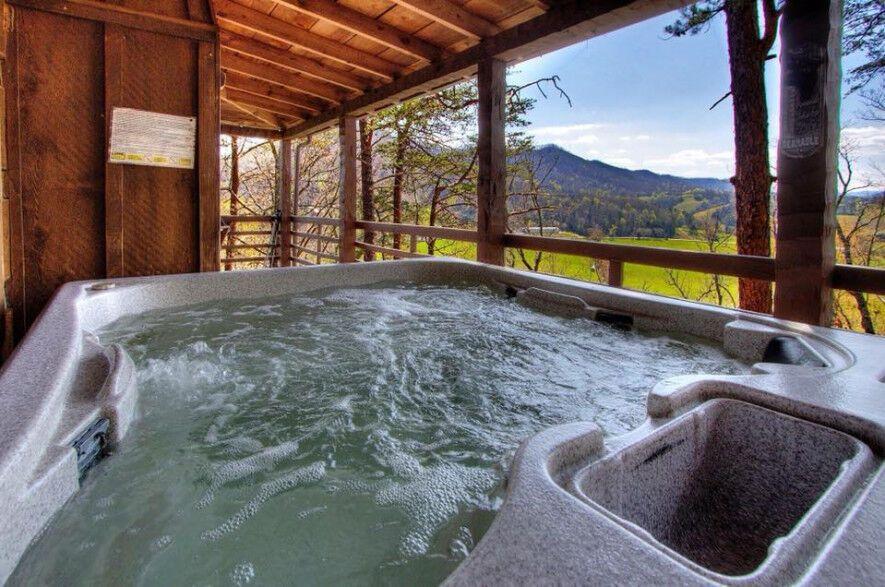 Properties Hearthside Cabin Rentals In The Smokies Hot Tub Hot Tub Outdoor Indoor Jacuzzi