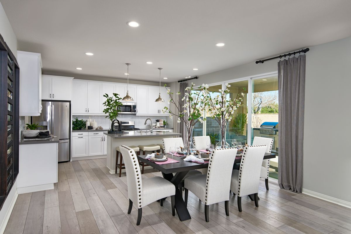 Studded Seating And Appealing Accents In 2021 New Kitchen Designs Home Kitchens Richmond American Homes