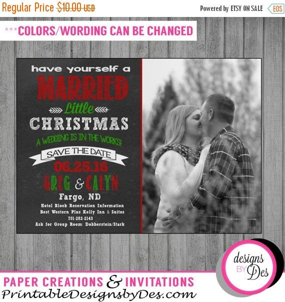 SALE Have yourself a married little Christmas Save the Date