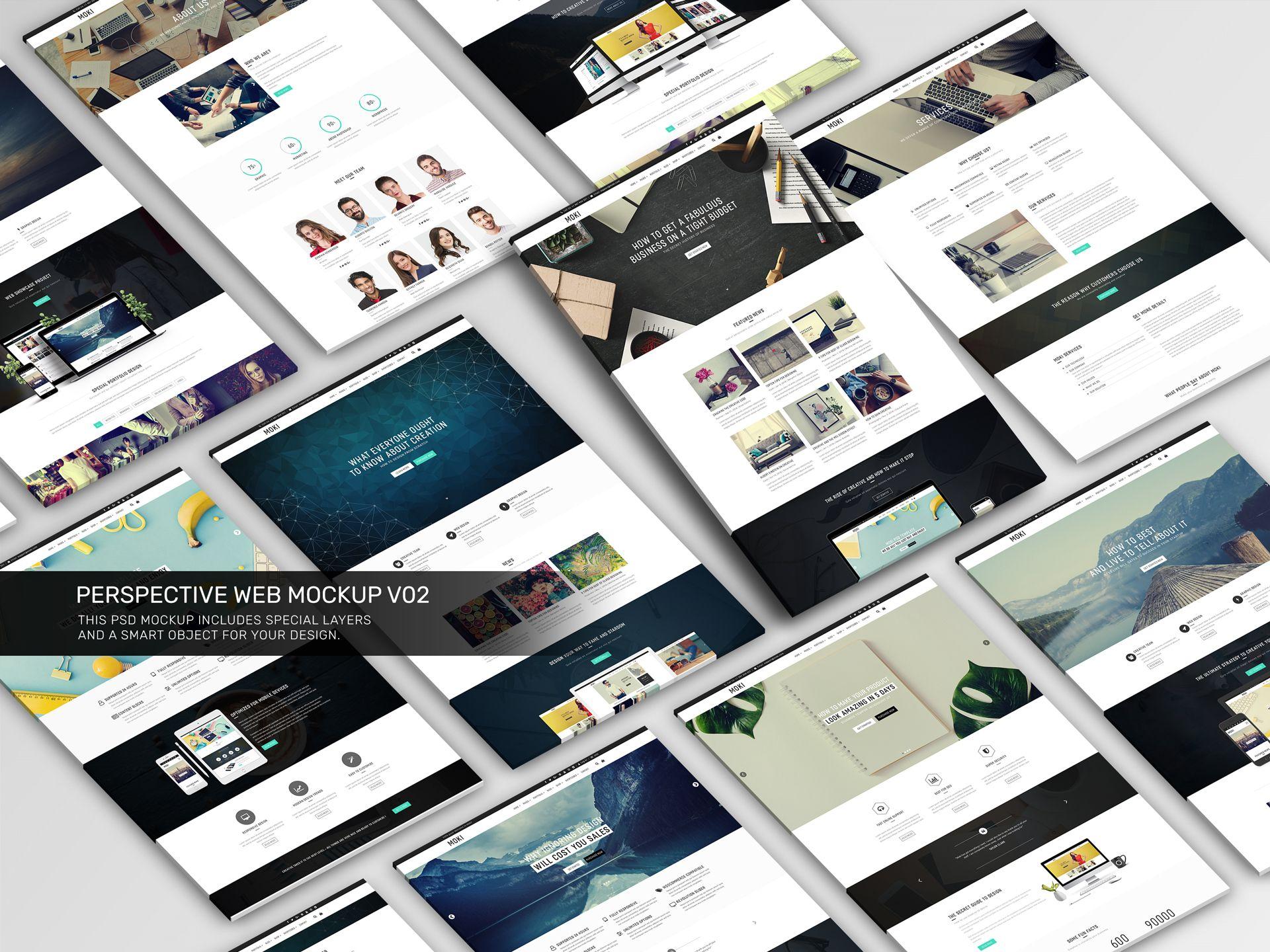 Perspective Web Mockup V02 Perspective Web Web Mockup Website Design