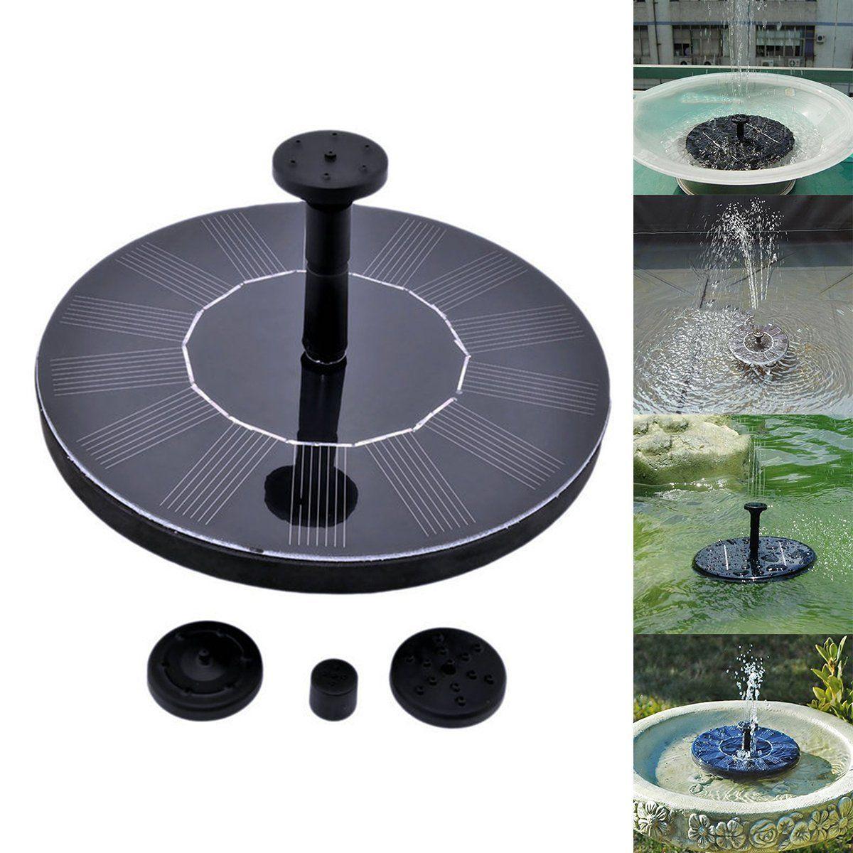 Solar Power Fountain Pump Floating Drifting Panel Pool