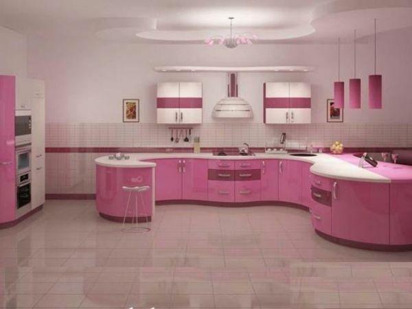 trendige rosa Modularküche | begendiklerim | Pinterest | Pink ...