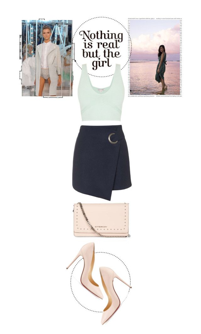 """""""Kate"""" by loeswhite ❤ liked on Polyvore featuring Oris, Louis Vuitton, Cotton Candy, Givenchy, Topshop and Christian Louboutin"""